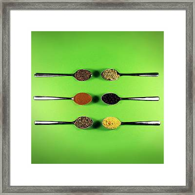 Spoons And Spices Framed Print by Vesna Viden