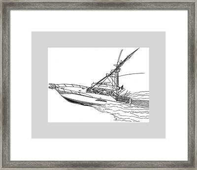 Sportfishing Yacht Framed Print by Jack Pumphrey
