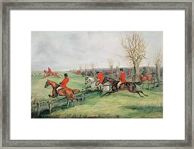 Sporting Scene, 19th Century Framed Print by Henry Thomas Alken