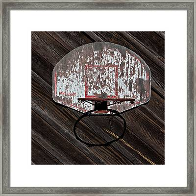 Sports - Basketball Hoop Framed Print by Art Block Collections