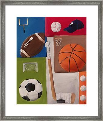 Sports Collage Framed Print by Tracie Davis