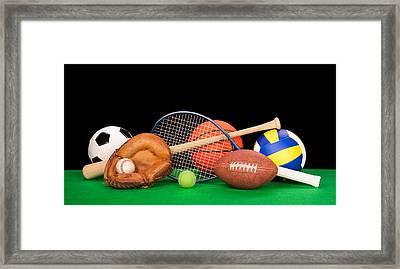 Sports Equipment Framed Print by Joe Belanger