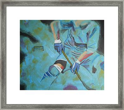 Sports Hockey-2 Framed Print by Vitor Fernandes VIFER