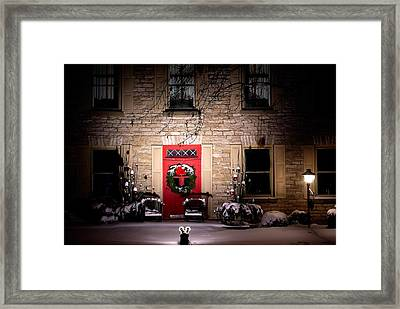 Spotlight On Christmas Framed Print by Paul Wash