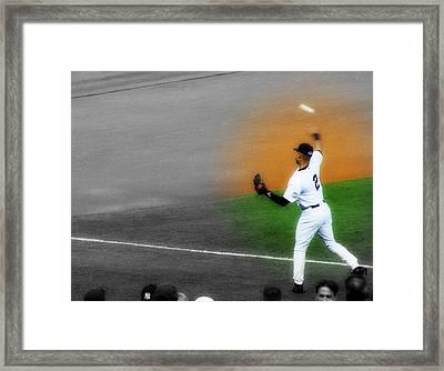 Spotlight On Derek Jeter 2 Framed Print by Aurelio Zucco