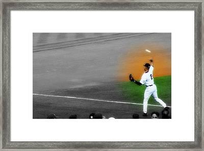 Spotlight On Derek Jeter Framed Print by Aurelio Zucco