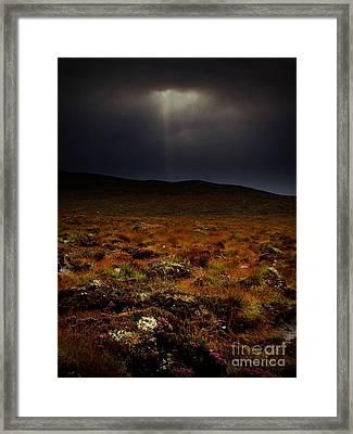 Spotlight On The Highlands Framed Print by Henry Kowalski