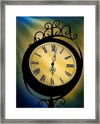 Spotlight On Time Framed Print by Mike Flynn