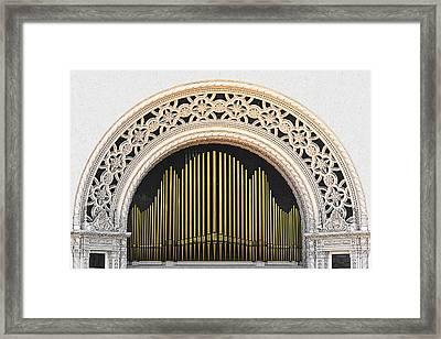 Spreckels Organ Balboa Park San Diego Framed Print by Christine Till