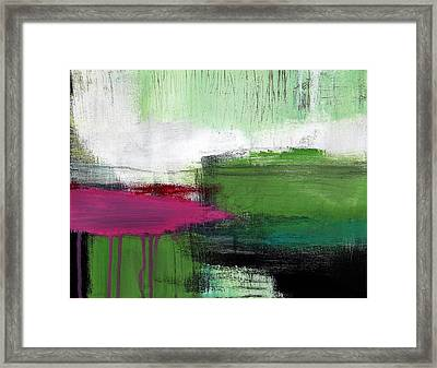 Spring Became Summer- Abstract Painting  Framed Print by Linda Woods