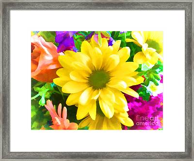 Spring Bouquet Framed Print by Luther   Fine Art