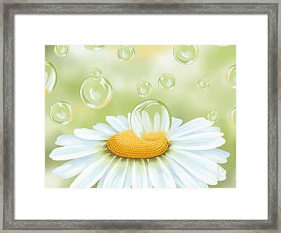 Spring Bubble Framed Print by Veronica Minozzi