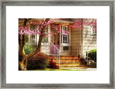 Spring - Door - Dogwood  Framed Print by Mike Savad