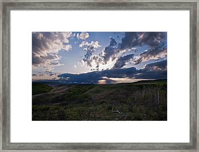 Spring Drama In The Foothills Sky Framed Print by Heather Simonds