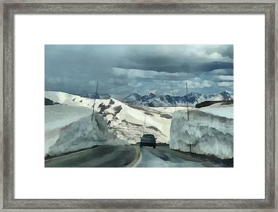 Spring Drive On Trail Ridge Road Framed Print by Dan Sproul