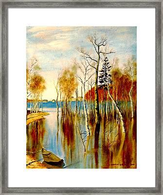 Spring Flood Framed Print by Henryk Gorecki