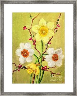 Spring Flowers 2 Framed Print by Randy Burns
