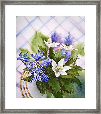 Spring Flowers Framed Print by Irina Sztukowski