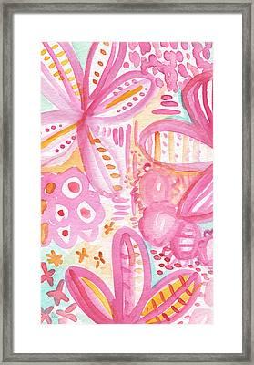 Spring Flowers- Watercolor Painting Framed Print by Linda Woods
