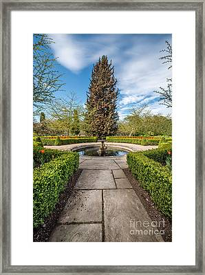 Spring Fountain Framed Print by Adrian Evans