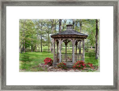 Spring Gazebo Pastel Effect Framed Print by Debbie Portwood