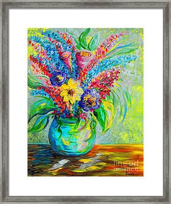 Spring In A Vase Framed Print by Eloise Schneider