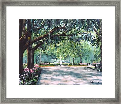 Spring In Forsythe Park Framed Print by Stanton Allaben