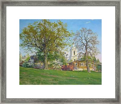 Spring In Kaluga Framed Print by Victoria Kharchenko