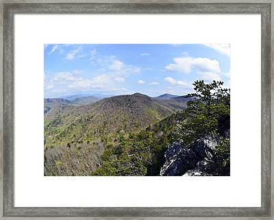 Spring In The Mountains Framed Print by Susan Leggett
