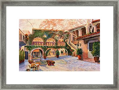 Spring In Tlaquepaque Framed Print by Marilyn Smith