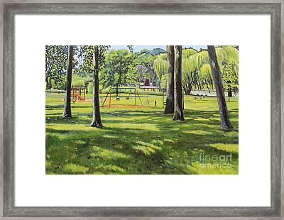 Spring Lake Playground Framed Print by William Bukowski