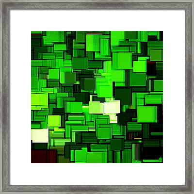 Spring Modern Abstract Xiv Framed Print by Lourry Legarde