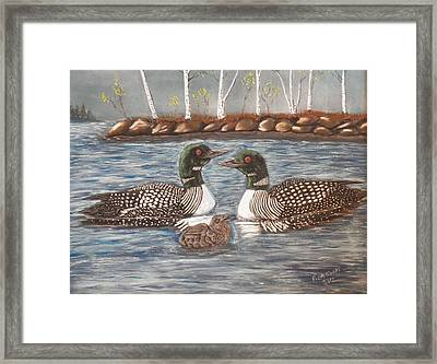 Spring On A Northern Lake Framed Print by Richard Goohs