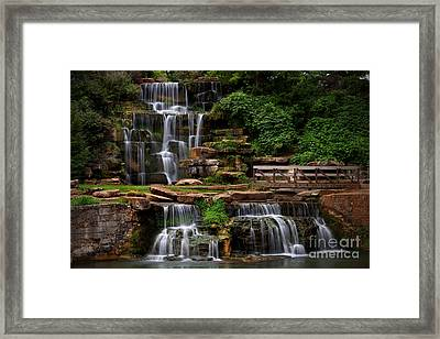 Spring Park Falls Framed Print by T Lowry Wilson