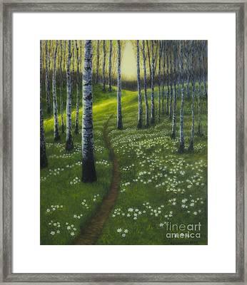 Spring Path Framed Print by Veikko Suikkanen