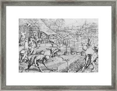 Spring Framed Print by Pieter the Elder Bruegel
