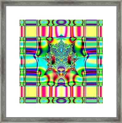 Spring Plaid Fabric Fractal Framed Print by Rose Santuci-Sofranko