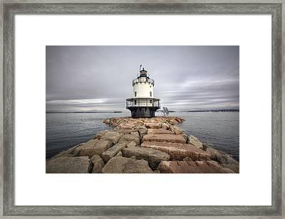 Spring Point Ledge Framed Print by Eric Gendron
