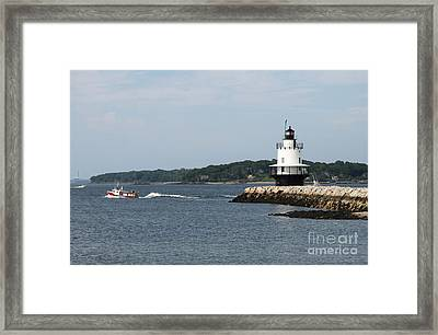 Spring Point Ledge Light II - Portland Harbor Framed Print by Christiane Schulze Art And Photography