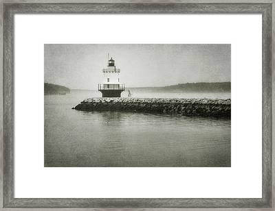 Spring Point Ledge Light Framed Print by Joan Carroll