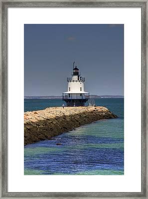 Spring Point Ledge Light Framed Print by Joann Vitali