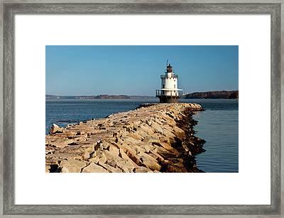 Spring Point Ledge Lighthouse Framed Print by Brian Jannsen