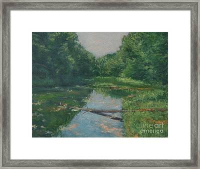 Spring Pond Reflection Framed Print by Gregory Arnett