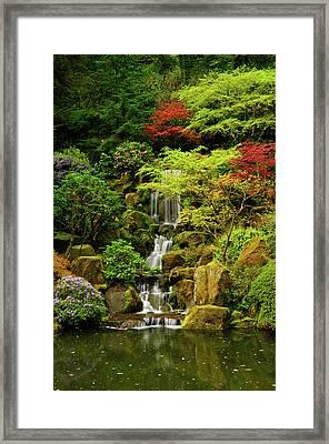 Spring, Portland Japanese Garden Framed Print by Michel Hersen