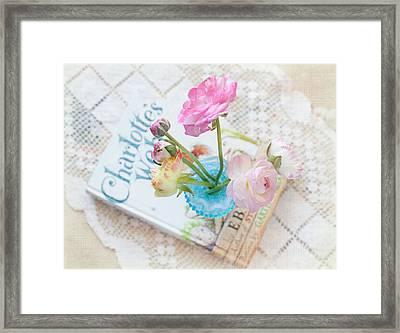 Spring Ranunculus Framed Print by June Marie Sobrito