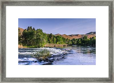 Spring Run Off On The Payette River Framed Print by Robert Bales