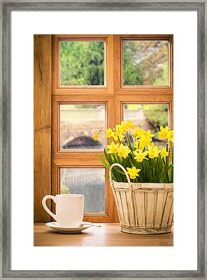 Spring Showers Framed Print by Amanda Elwell