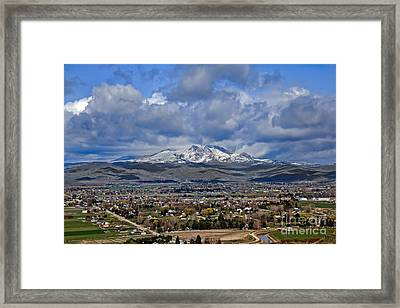 Spring Snow On Squaw Butte Framed Print by Robert Bales