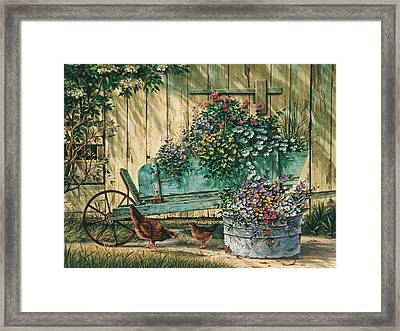 Spring Social Framed Print by Michael Humphries
