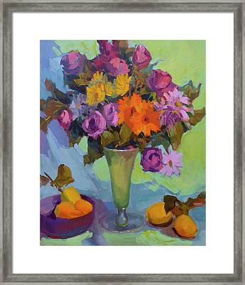 Spring Still Life Framed Print by Diane McClary